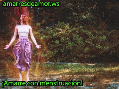 como se hace un amarre con menstruacion