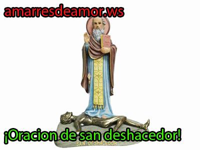 Oración a San Deshacedor para deshacer males